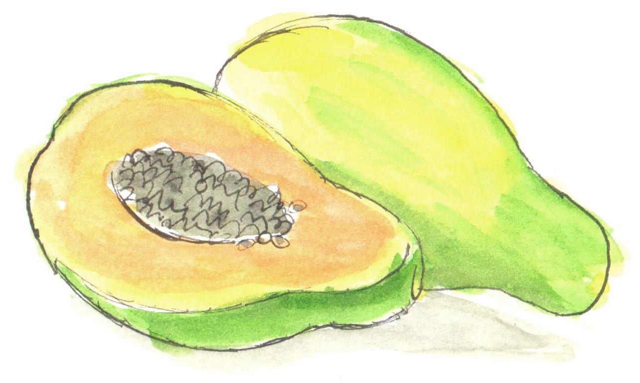 Garden papayas