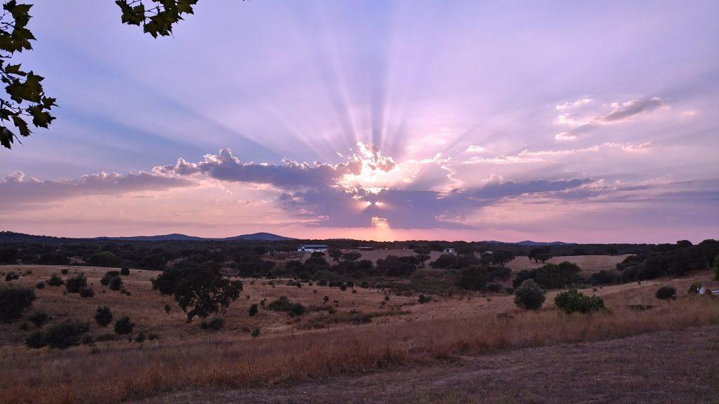 Sunset over Evoramonte
